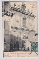 TREVIGLIO-BERGAMO-FACCIATA DEL NUOVO SANTUARIO DI S. AGOSTINO-CARTOLINA VIAGGIATA IL 5-5-1902 - Bergamo
