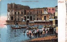 Italy, Napoli, Palazzo Donn' Anna A Posillipo, Boats Gondolas, Naples - Cartes Postales