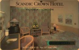Mercury - GPT Cards, MER109, Scandic Hotel (071 834 8123), 20MERF, 5£, 5,728ex, Mint - Royaume-Uni