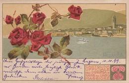 PALLANZA-VERBANO CUSIO OSSOLA-CARTOLINA UFFICIALE IMPRESA NAVIGAZIONE SUL LAGO MAGGIORE-LIBERTY VIAGGIATA IL 10-9-1899 - Verbania