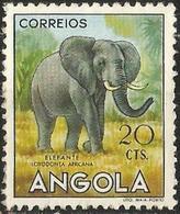 ANGOLA 1953 - Mi.370 O, African Elephant (Loxodonta Africana)   African Wildlife   Animals (Fauna)   Elephants   Mammals - Angola