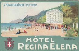 SANTA MARGHERITA LIGURE-HOTEL=REGINA ELENA=CARTOLINA NON VIAGGIATA ANNO 1925-1935 - Genova (Genoa)