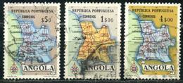 ANGOLA 1955 - Mi. 397 O, Map Of Angola   Maps - Angola