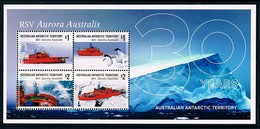 AUSTRALIAN ANTARCTIC TERRITORY (AAT) • 2018 • RSV Aurora Australis: 30 Years - Minisheet • MNH (1) - Unused Stamps