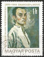 HUNGARY 1980 - Mi. 3450 O, Bertalan Pór, Self-portrait   Art   Painters   Paintings - Oblitérés