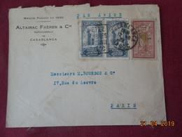Lettre De 1929 à Destination De Paris Par Avion ( Merson Surchargé) - Maroc (1891-1956)