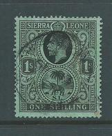 Sierra Leone 1921- 1928  KGV & Elephant 1 Shilling FU - Sierra Leone (...-1960)