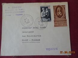 Lettre De 1954 à Destination De St Fargeau - Marcophilie (Lettres)