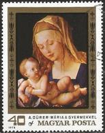 "HUNGARY 1979 - Mi. 3326 O, ""Virgin And Child"" Albrecht Dürer   Art   Painters   Paintings   Religion - Oblitérés"