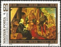 "HUNGARY 1979 - Mi. 3327 O, ""Adoration Of The Magi"" Albrecht Dürer | Art | Painters | Paintings | Religion - Oblitérés"