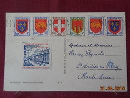 Carte De 1949 à Destination De St Didier En Velay (avec Vignette Etape Du Tour De France Vélo) - Marcophilie (Lettres)