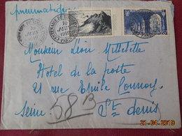 Lettre Pneumatique De 1949 à Destination De St Denis (cachet Centenaire Du Timbre) - Marcophilie (Lettres)
