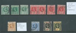 Sierra Leone KGV 1912 - 1921 Duplicated Selection Of 11 FU , Including Better Postmarks Batkanu & Waterloo - Sierra Leone (...-1960)