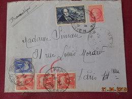 Lettre Pneumatique De 1948 à Destination De Paris Avec Taxes - Marcophilie (Lettres)