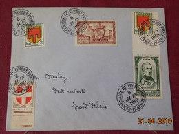 Lettre De 1949 à Destination De (poste Restante Grand Palais) Cachet Centenaire Du Timbre - Marcophilie (Lettres)