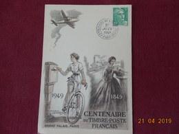 Carte De 1949 ( Centenaire Du Timbre- Paris) Exposition Du Centenaire - Marcophilie (Lettres)