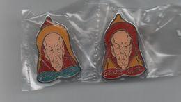Pin's Caricature Homme Polique Tirage 500ex, Rare Les 2 Couleurs Officielles Gengis Khar..BT11 - Personnes Célèbres