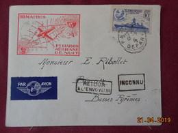 Lettre De 1939 à Destination De Biarritz ( 1ere Liaison Aérienne De Nuit) - Postmark Collection (Covers)