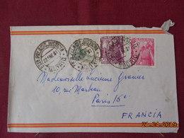 Lettre De 1951 à Destination De Paris - 1931-Oggi: 2. Rep. - ... Juan Carlos I