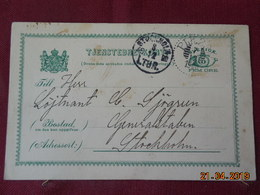 Entier Postal De 1900 à Destination De Stockholm - Entiers Postaux