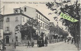 Marche-ascoli Piceno-san Benedetto Del Tronto Viale Regina Margherita Animatissima Veduta Viale Primi 900 (v.retro) - Andere Städte