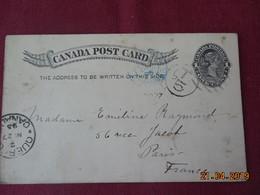 Entier Postal De 1898 à Destination De Paris - 1851-1902 Règne De Victoria