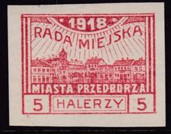 POLAND Przedborz 1918 Fi 11A Mint Hinged Type 1 - Poland