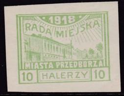 POLAND Przedborz 1918 Fi 12A Mint Hinged Type 1 - Poland