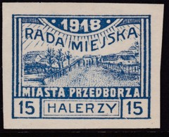 POLAND Przedborz 1918 Fi 13A Mint Hinged Type 1 - Poland