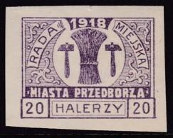 POLAND Przedborz 1918 Fi 14A Mint Hinged Type 1 - Poland