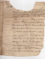 Manuscrit Acte Bureau Des Finances De La Généralité D' Orléans 1693 Paroisse De St Germain 4 Pages - Manoscritti