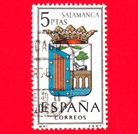 SPAGNA - Usato - 1965 - Stemmi Araldici - Coat Of Arms - Province - Salamanca - 5 - 1931-Heute: 2. Rep. - ... Juan Carlos I