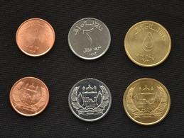 Afghanistan 3 Coins Set 1-2-5 Afghani. COIN UNC - Afghanistan