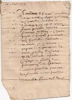 Manuscrit Acte Notarié Notaire Royal Orléans 1664 Paroisse St Germain Guyot 8 Pages - Manuscripts