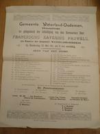 Waterland Oudeman Watervliet 1911 Pastoor Inhuldiging Pauwels Xaverius - Programs