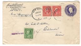 16770 - PER S.S. BERGENSFJORD - Etats-Unis