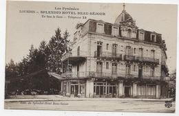 LOURDES - SPLENDID HOTEL BEAU SEJOUR - CPA NON VOYAGEE - Lourdes