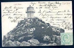 Cpa D' Afrique Du Sud South Africa -- Envoyée De Cape Town 1905 -- Cape Point Light House    AFS8 - Afrique Du Sud