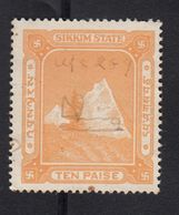 SIKKIM State India  10 Paise  Revenue  #  18251   FD Inde Indien Fiscaux Fiscal Revenue - Unclassified
