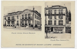 LOURDES - HOTEL DE BIARRITZ ET MAISON LATAPIE - CPA NON VOYAGEE - Lourdes