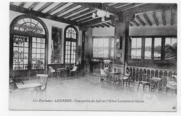 LOURDES - HOTEL LONDRES ET GALLIA - UNE PARTIE DU HALL - CPA NON VOYAGEE - Lourdes