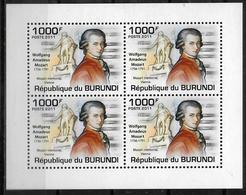 BURUNDI  Feuillet   N° 1273 * *  Musique Compositeurs Mozart - Musique