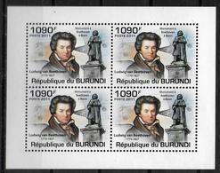 BURUNDI  Feuillet   N° 1274 * *  Musique Compositeurs  Beethoven - Musique