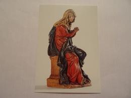 Carte Postale Vierge De Douleur, Terre Cuite Peinte, XVIIe Siècle - Sées - Sees