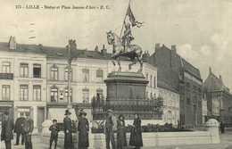 LILLE  Statue Et Place Jeanne D' Arc RV - Lille