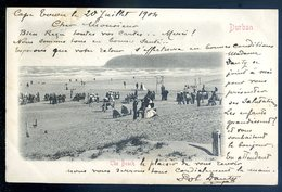 Cpa D' Afrique Du Sud South Africa -- Envoyée De Cape Town 1904 -- Durban The Beach  AFS8 - Afrique Du Sud