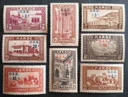 MARRUECOS: Protectorado,frances. Año: 1938 - Lujo/ ( Ayuda A La Infancia ) Sobrecarga En Color Azul, Tipo De 1933 - 1934 - Maroc (1956-...)