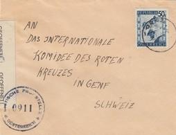 1948: Graz Nach Genf, Rotes Kreuz, Zensur - 1945-.... 2. Republik