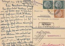 Ansichtskarte 1938 Von Stuttgart Nach Munsterthal/Stosswihr, Retour - Allemagne