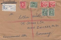 Australia: 1950: Registered Henty To Stenn/Germany - Australien